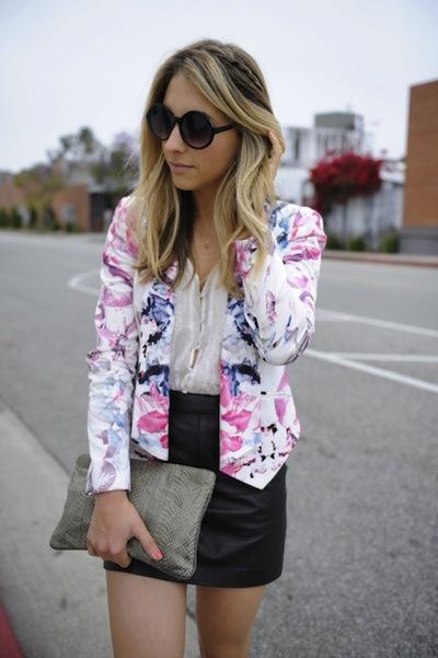 minkoff floral blazer