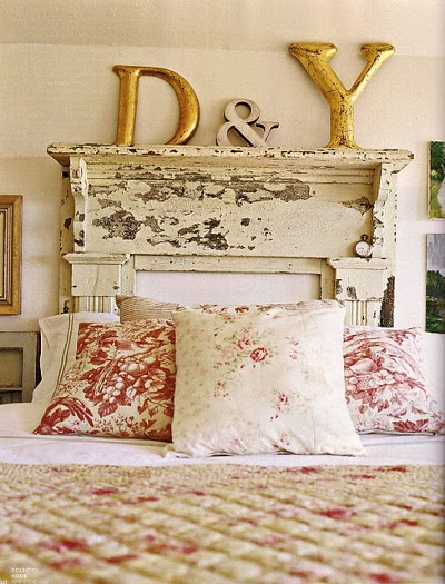 10-DIY-headboard-distressed-mantlepiece-white-bedroom-feature-wall