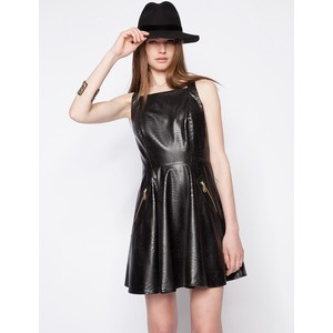 Leather Dress via Polyvore