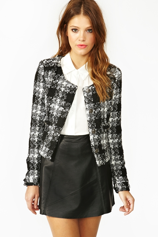 Nasty Gal Tweed Jacket