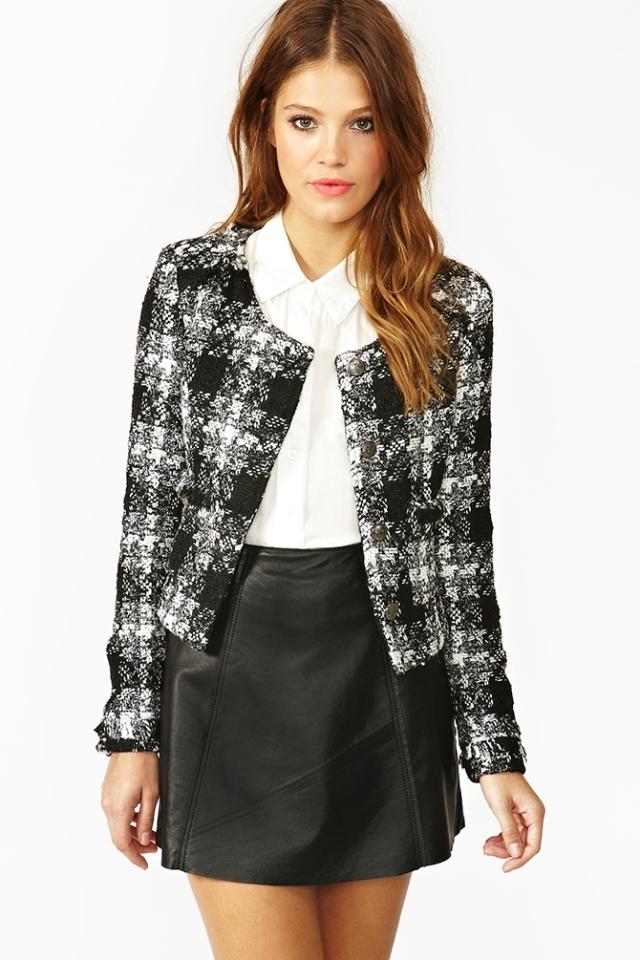 Nasty Gal Tweed Jacket
