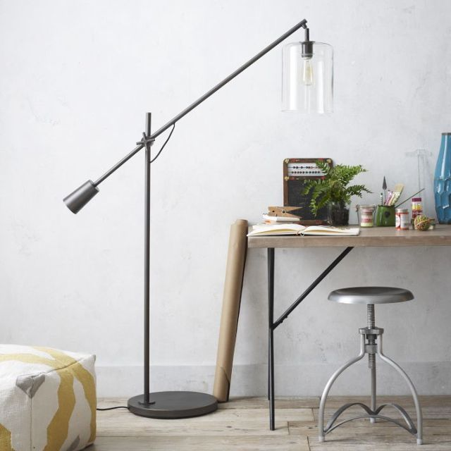 Adjustable Glass Floor Lamp West Elm