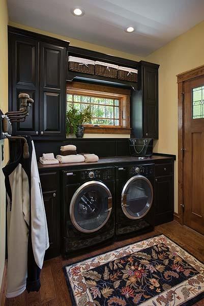 black-laundry-room