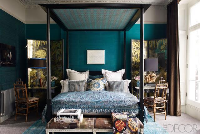 teal+bedroom+elle+decor