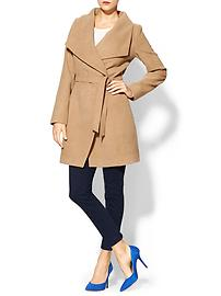 Funnel Neck Coat - Camel