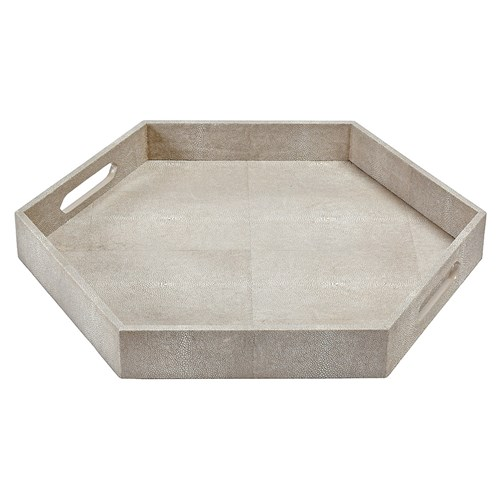 Regina Andrew Ivory Grey Shagreen Hex Tray 248 zinc door